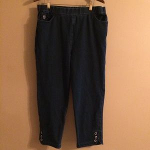 Dream Jeans Quacker Factory Ankle Pant L Short